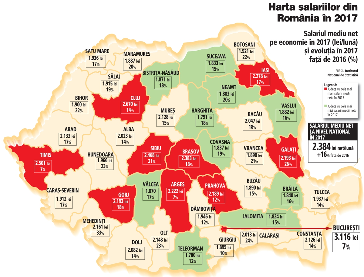 Harta Salariilor Din Romania In 2017 Judeţul Covasna In